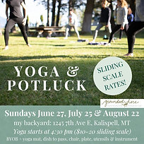 Yoga & Potluck- 1 class (community supported)