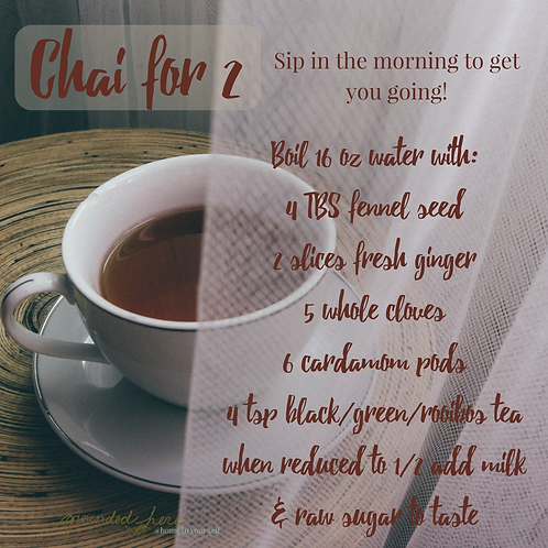 Chai Tea Recipe (Decaf alternative included)