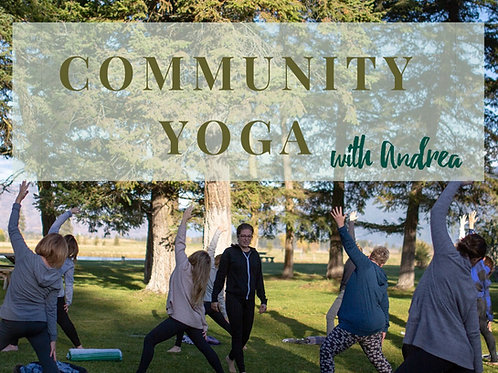Community Yoga - 1 class (pay it forward)