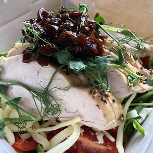chicken chutney salad
