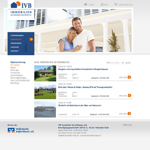 Webseite | IVB Immobilien