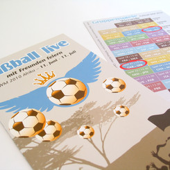 Flyer zur Fußballweltmeisterschaft in Afrika | Elsbach Haus