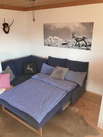Sofa als komfortables Bett