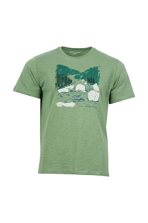 MENS WOODCUT RIVER S/S GRAPHIC TEE