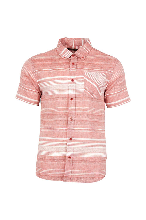 MENS RIDGERUNNER S/S STRIPE BUTTON DOWN