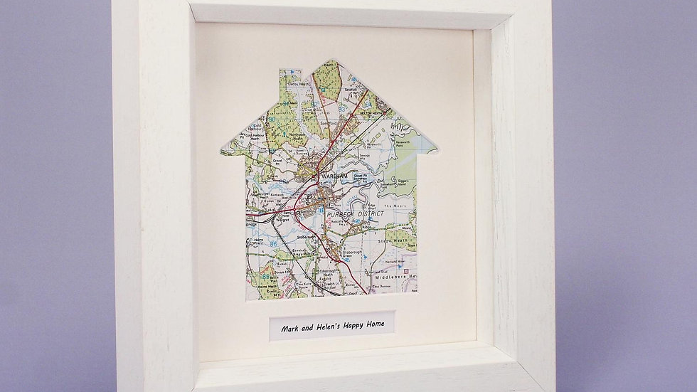 Our HOME personalised framed map