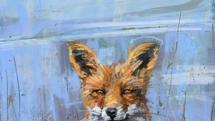 'The skylark and the fox' large greeting card