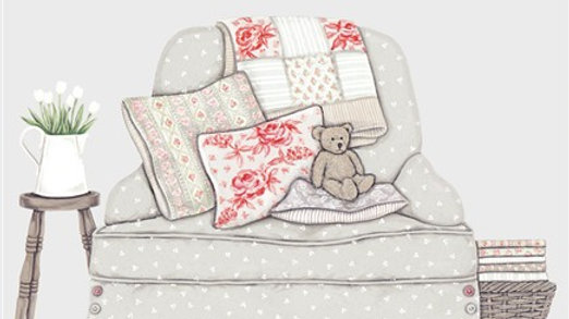 Sally Swannell  'Bear on a Chair' greeting card