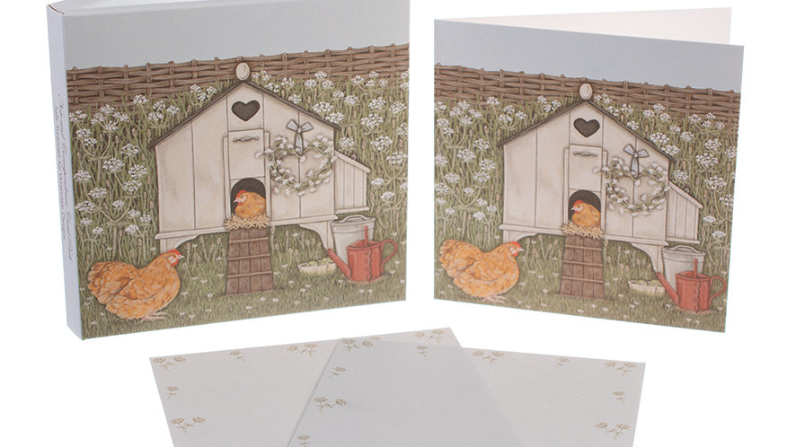 Sally Swannell  'Hen House' notecard pack