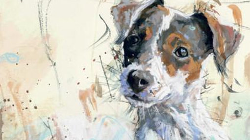 Jack Russell large greeting card