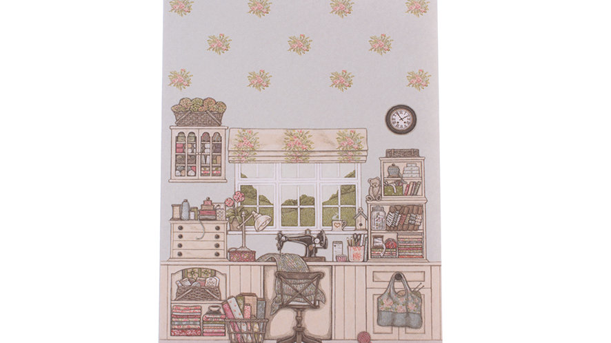 Sally Swannell  'The Sewing Room' A6 small notebook