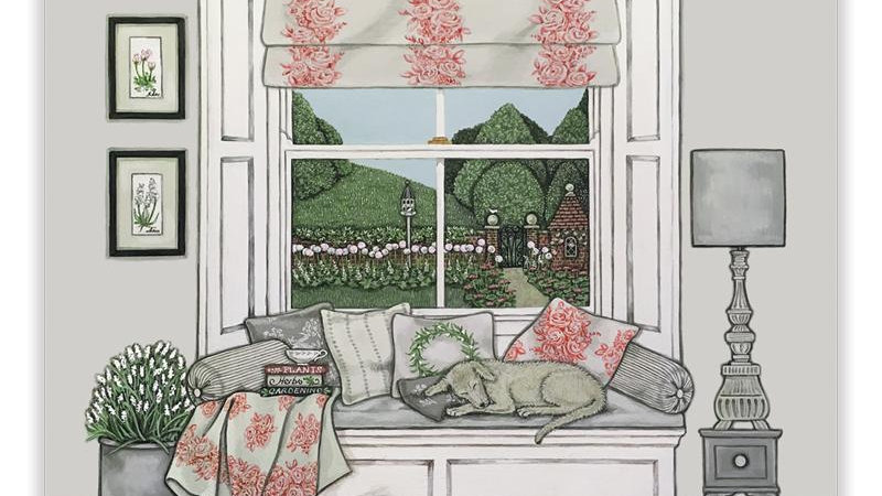 Sally Swannell  'Window Seat' greeting card
