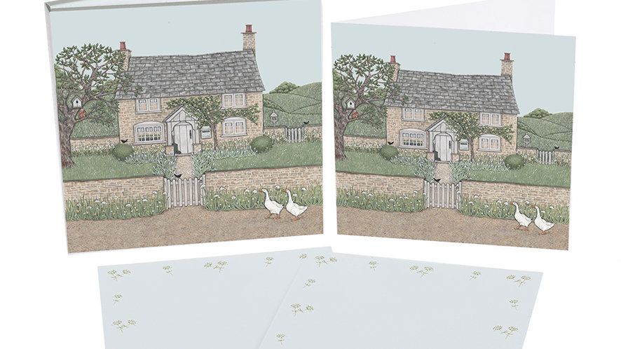 Sally Swannell  'Country Cottage' notecard pack