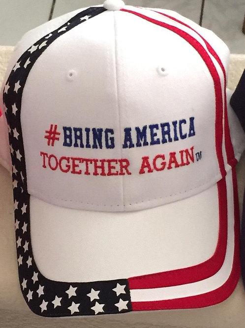 Hat - White US Flag