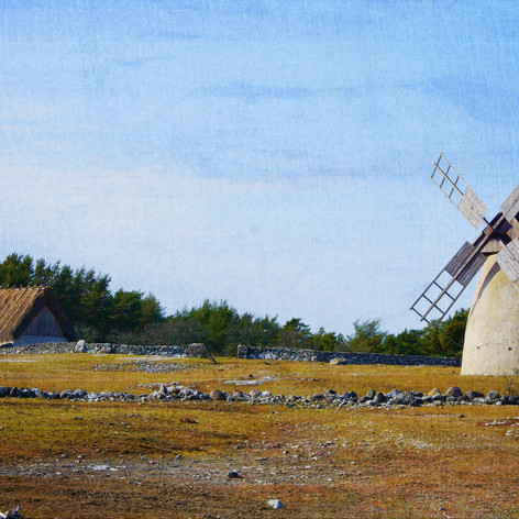 Ipmression(ism)of Landscape-The Windmill