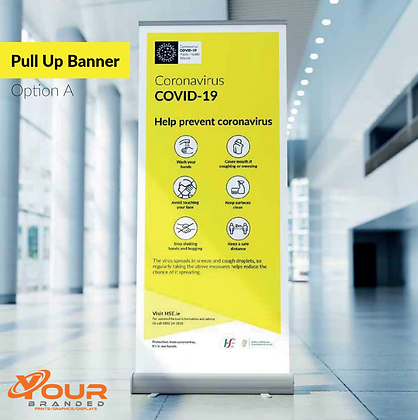 Covid-19 Pull Up Banner