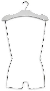 Cabide de madeira branco para vitrine de loja