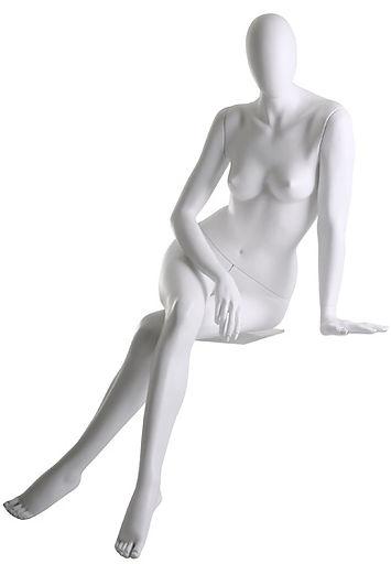 Manequim feminino adulto para vitrine de plástico rotomoldagem com cabeça sentado