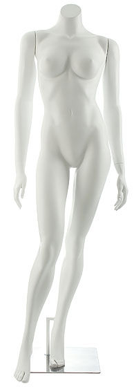 Manequim feminino adulto para vitrine de plástico rotomoldagem sem cabeça