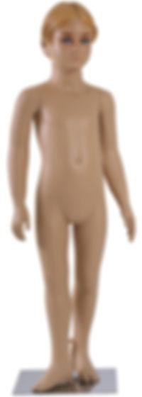 Manequim infanto juvenil teen kids masculino pra vitrine na cor de pele ou nude com cabeça em rotomoldagem ou fibra de vidro