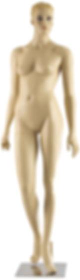 Manequim feminino adulto para vitrine de plástico rotomoldagem com cabeça com base