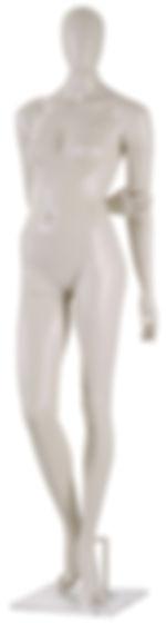 Manequim feminino adulto para vitrine de plástico rotomoldagem com cabeça pose com base