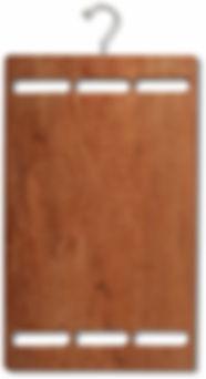 Cabide de madeira para vitrine de loja com display de cinto