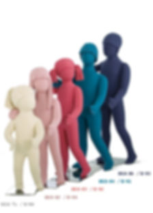 Manequins infanto infantis juvenis kids teen em espuma flexível várias posições, cores e idades flexkids