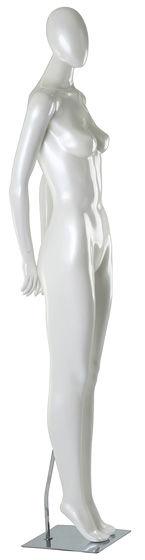 Manequim feminino adulto para vitrine de plástico rotomoldagem com cabeça posição reta com base
