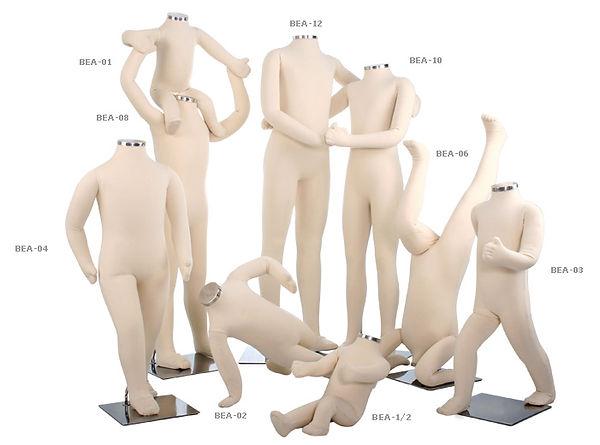 Manequins infanto infantis juvenis kids teen em espuma flexível várias posições e idades flexkids