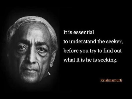 Jiddu Krišnamurti III DalisSąmonė - Pilnatviškas gyvenimas.  Įsisąmoninimas