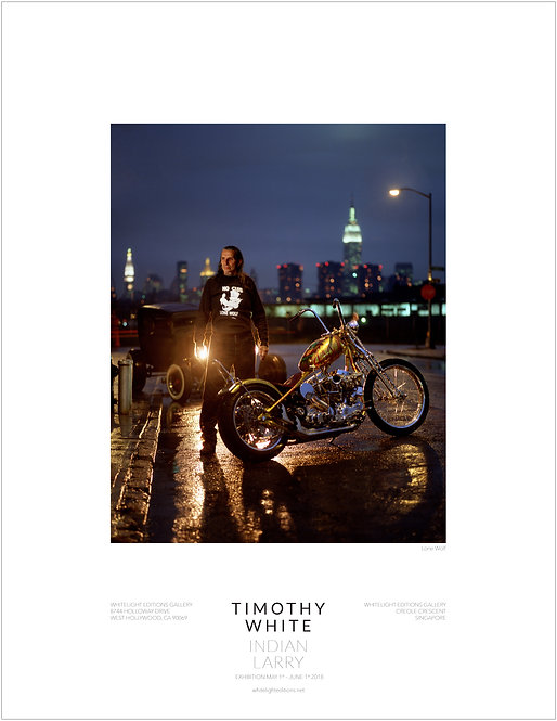 "Indian Larry ""Lone Wolf"" Poster by Timothy White"