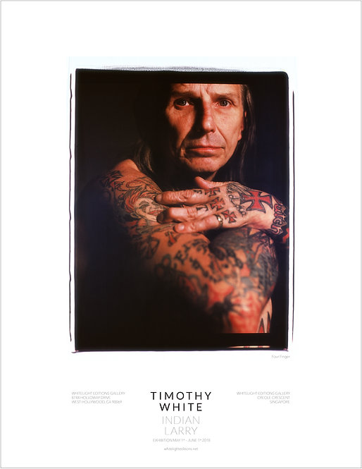 """""""Four Fingers"""" Indian Larry Poster by Timothy White"""