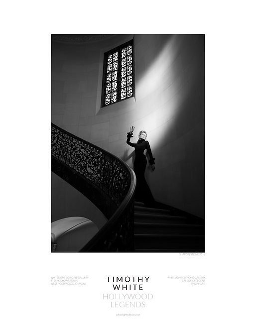 Sharon Stone descending staircase Poster by Timothy White