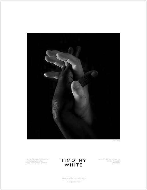 """One"" Black and White hands Poster by Timothy White"