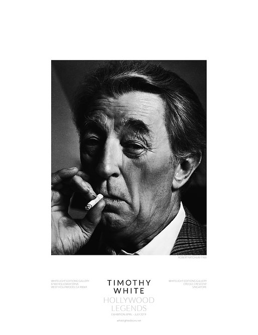 Robert Mitchum smoking cigarette Poster by Timothy White