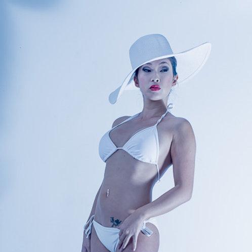 Postcard - White Bikini & Hat