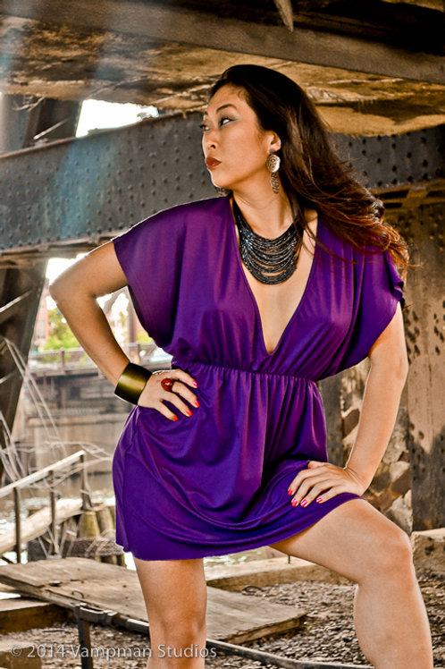 Postcard - Purple Dress