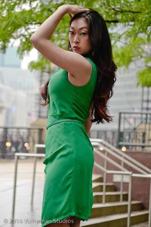 Postcard - Green Dress