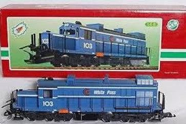 Brand New LGB 21552 White Pass Alaskan Railroad Alco Diesel Locomotive with Fact