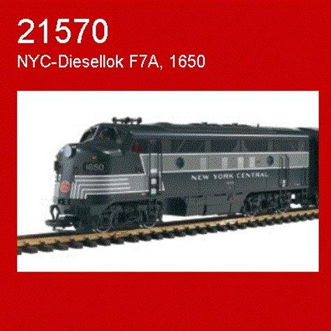 LGB 21570 F7A Diesel Locomotive New York Central