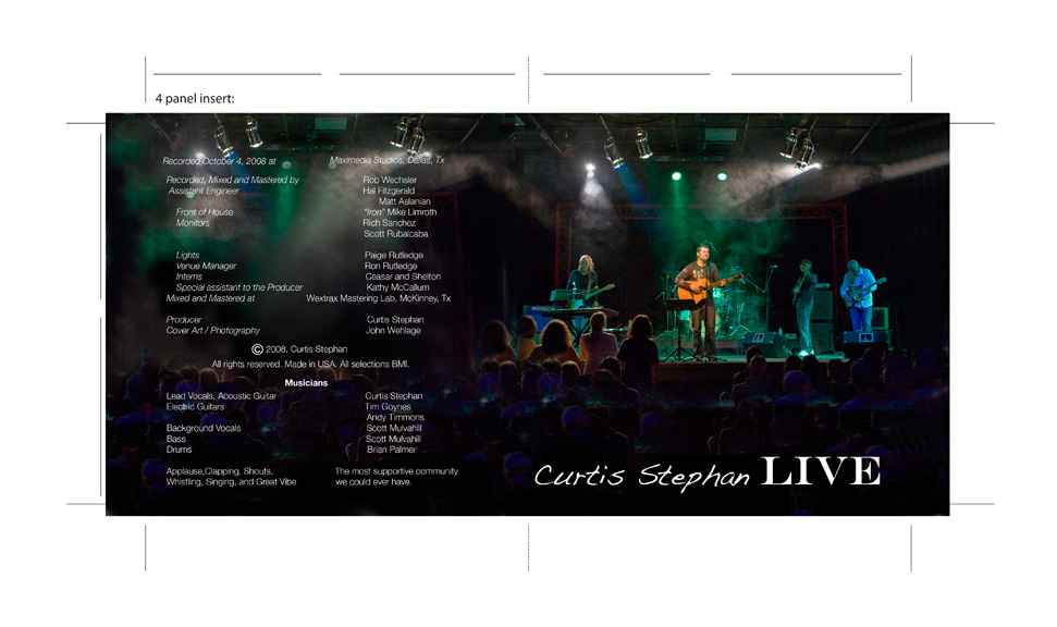 curtis stephan Live album art