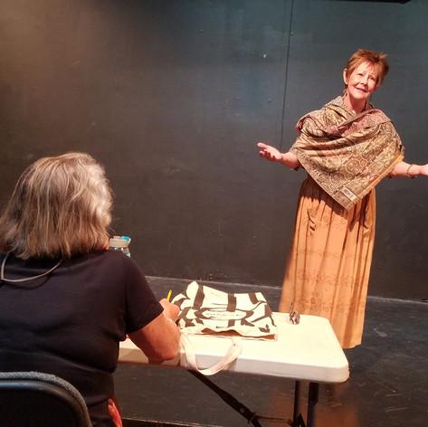Scene with Elizabeth Swain