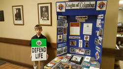 William defends life along with The Knights of Columbus!