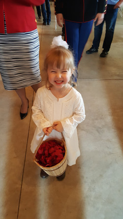 Elizabeth as the flower girl for her brother Justin's wedding!