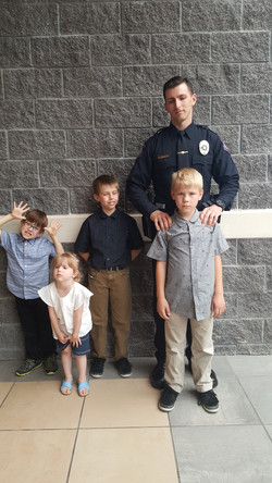 Big Brother Justin is now a Bixby Police Officer!