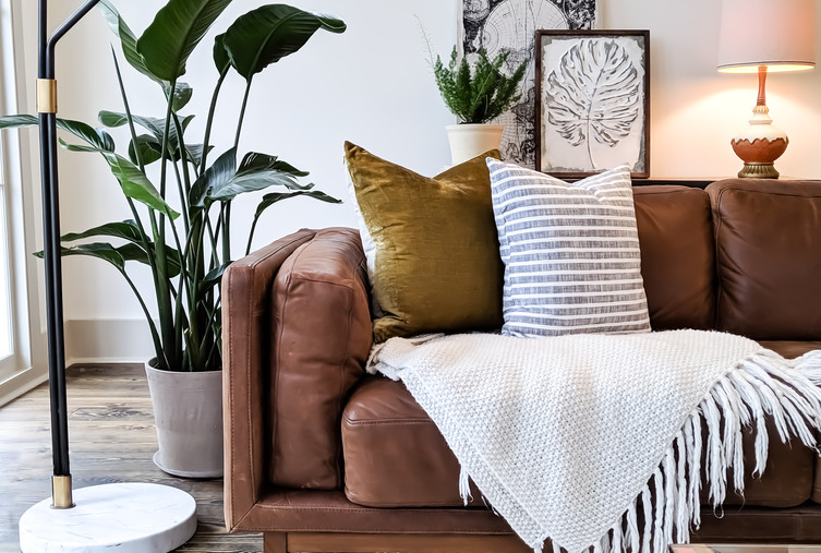 Couch in living