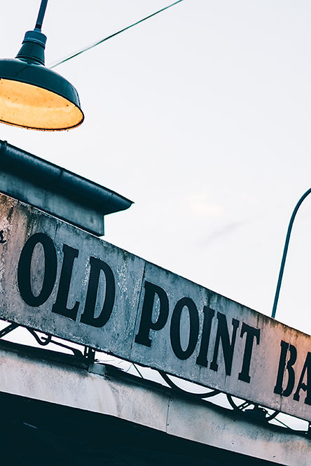 Old Point Bar in Algiers Point, old bar, bar sign