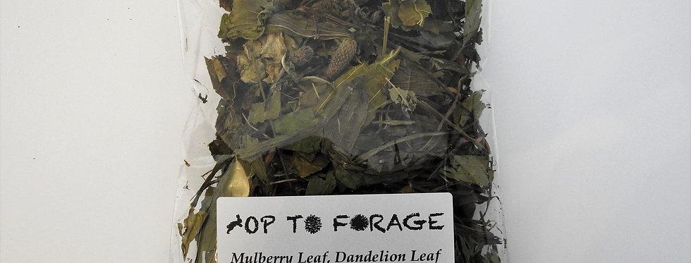 Mulberry Leaf, Dandelion Leaf & Ribwort Plantain (25g)