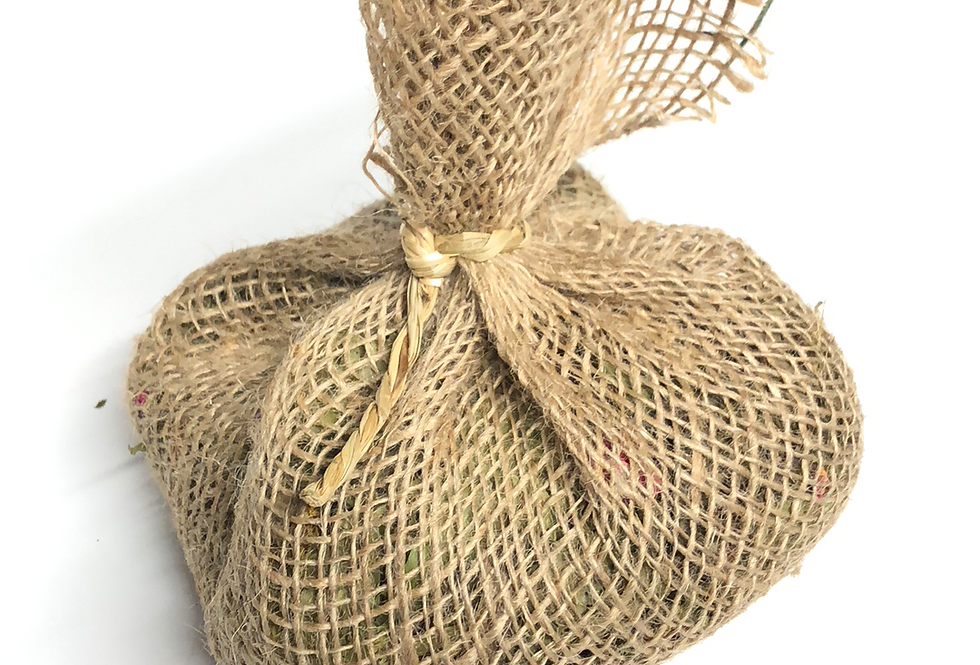 Natural Hessian Forage Pouch